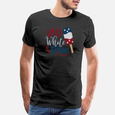 Fireworks Red White And Blue - Men's Premium T-Shirt