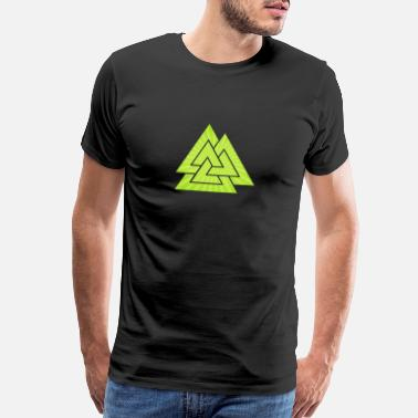 Rune Green Viking Rune - Men's Premium T-Shirt