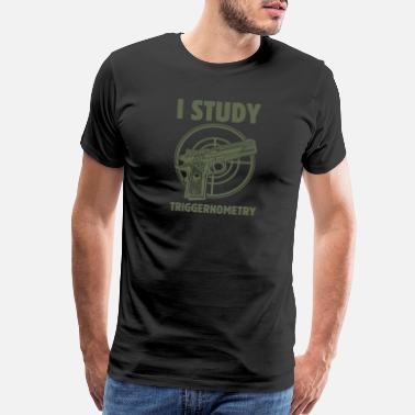 Army Sniper Gun Enthusiast I Study Triggernometry Bullets 2nd - Men's Premium T-Shirt