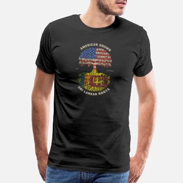 Sri Lankan American Grown Sri Lankan Roots Sri Lanka Flag - Men's Premium T-Shirt