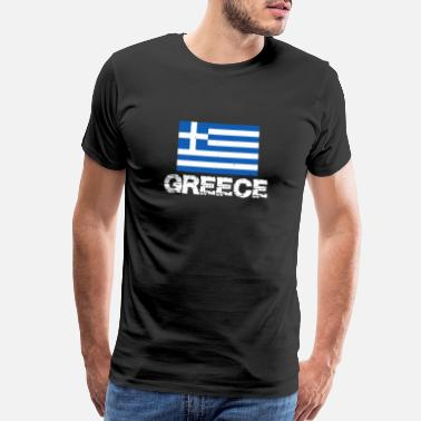 Greek Greece National Pride Greek Flag Design - Men's Premium T-Shirt