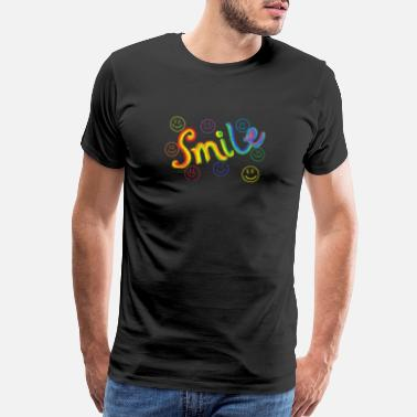 Art Nouveau Rainbow Smile - Men's Premium T-Shirt