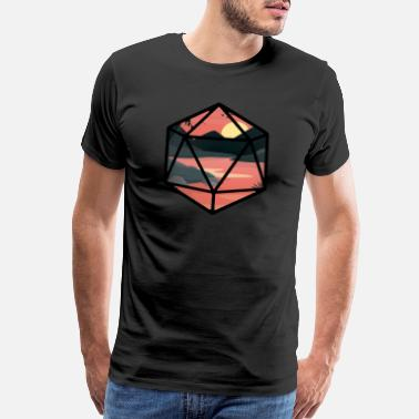 Dnd Sunset D20 - Men's Premium T-Shirt