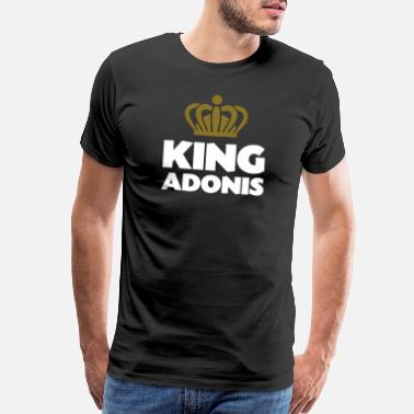 Adonis King adonis name thing crown - Men's Premium T-Shirt