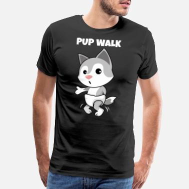 Little Wolf Pup Walk - Puppy Dance Toillette T-Shirt - Men's Premium T-Shirt