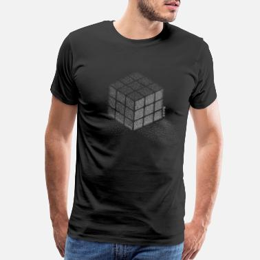 Rubik's Cube Stippling Dotted Cube - Men's Premium T-Shirt