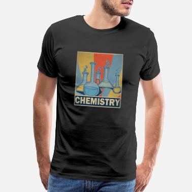 Test Tube Chemistry Teacher Retro Vintage Gift Science - Men's Premium T-Shirt
