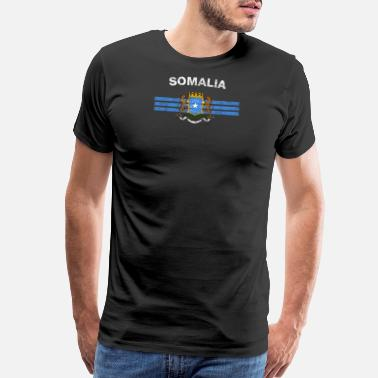 Somali Pirates Somali Flag Shirt - Somali Emblem & Somalia Flag S - Men's Premium T-Shirt