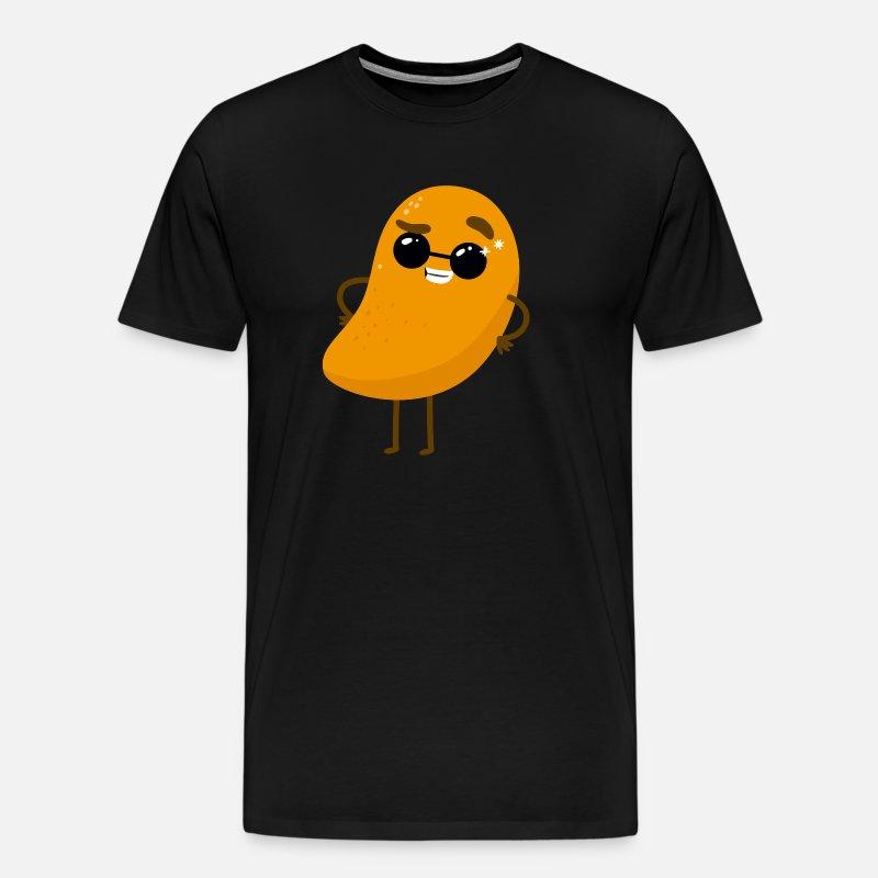 Funny Mango Tropical Sweet Fruit Potato Humor Men's Premium T Shirt noble brown