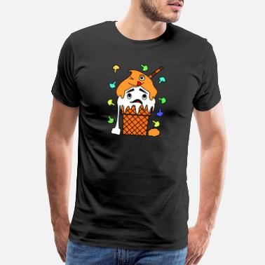 Strawberry Cute And Funny Cup Cake Ice Cream Face Vanilla Fla - Men's Premium T-Shirt