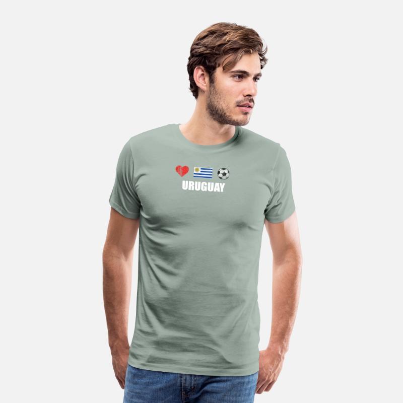 Uruguay Football Shirt - Uruguay Soccer Jersey Men s Premium T-Shirt ... 9ef5808f5