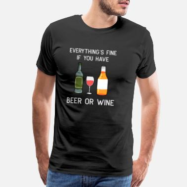 Fine Wine wine beer craft beer red wine alcohol gift - Men's Premium T-Shirt