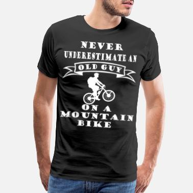 Skiing Old Mountainbiking old and young - Men's Premium T-Shirt