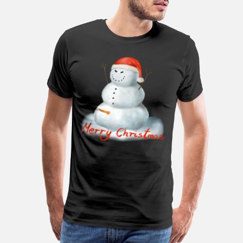 24b5d64f4 Evil Horny Snowman Santa Hat Merry Christmas - Men s Premium T-Shirt. Back.  Back. Design. Front