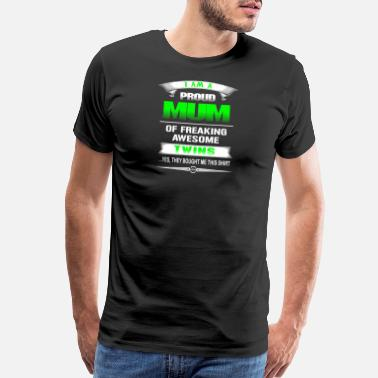 Hodgetwins Twins - Proud mum of awesome twins t-shirt - Men's Premium T-Shirt