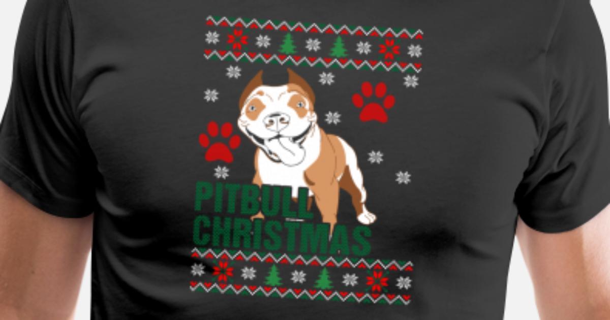Pitbull Ugly Christmas Sweater by xmasdesigns | Spreadshirt