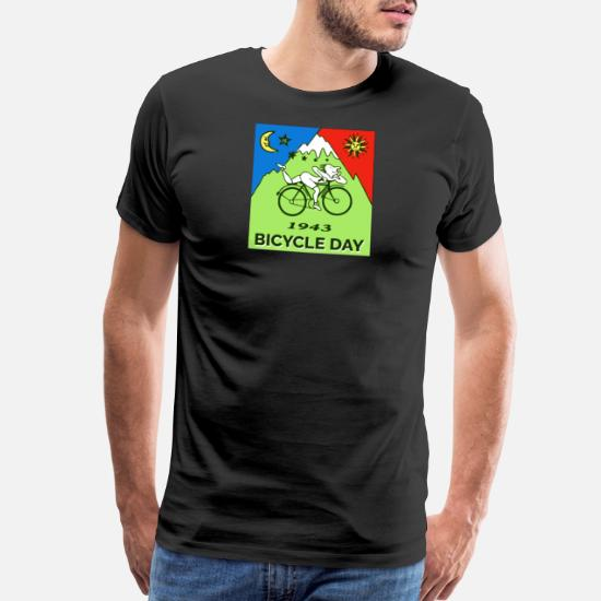 8a9a1180e Albert T-Shirts - Bicycle Day T shirt 1943 Vintage Albert Hofmann - Men's  Premium