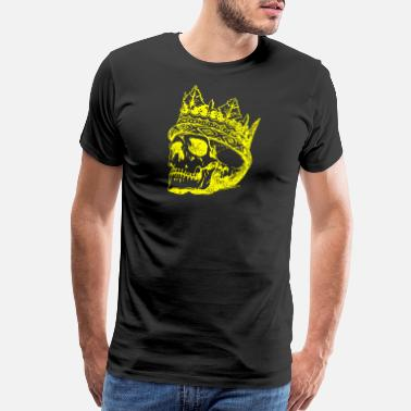 Spooky Skull King Gold - Men's Premium T-Shirt