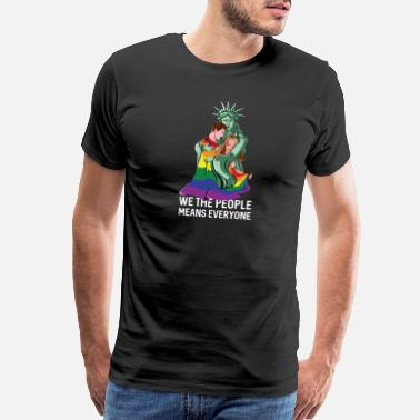 We The People Means Everyone Lgbt We The People Means Everyone LGBT - Men's Premium T-Shirt