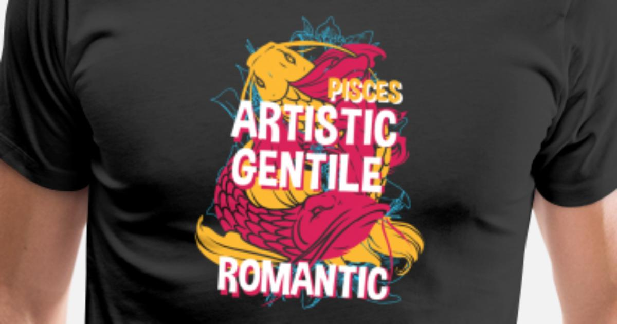 Pisces Zodiac Horoscope Koi Fish Spirit Animal Men's Premium T-Shirt    Spreadshirt