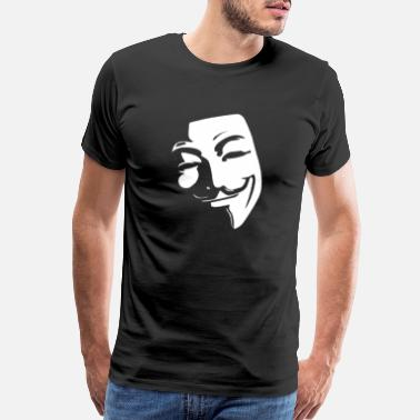 Guy Anonymous, Guy Fawkes, Mask, V for Vendetta, Novem - Men's Premium T-Shirt
