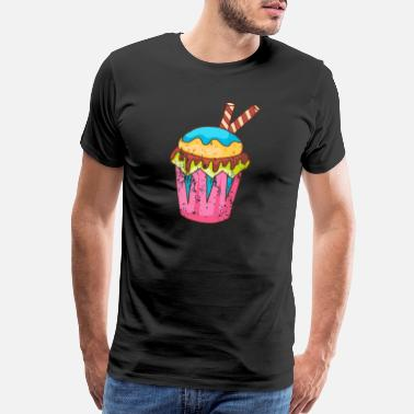 Bakery Retro Vintage Grunge Style Muffins Cupcakes - Men's Premium T-Shirt