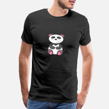 Bear Pictures Cute little Panda Gift Idea - Men's Premium T-Shirt