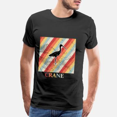 Crane Bird crane - Men's Premium T-Shirt