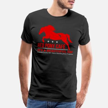 Red Cafe Red Pony Cafe - Men's Premium T-Shirt