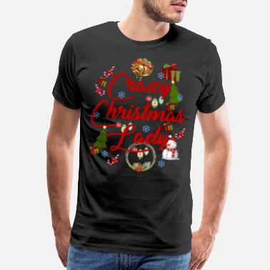 Christmas Mugs Crazy Christmas Lady Mug Merry Christmas - Men's Premium T-Shirt
