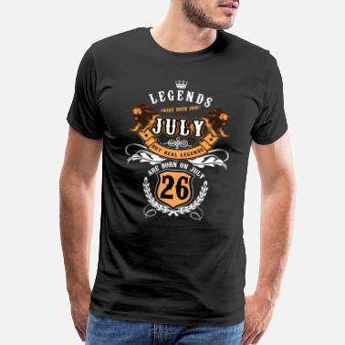 Legend %26 Legend Are Born In July - Men's Premium T-Shirt