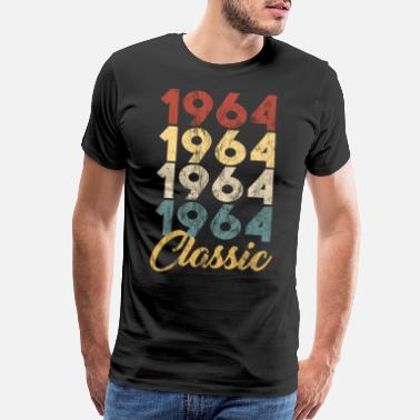 1960s Born Vintage Retro Born In 1964 55th Birthday Gift - Men's Premium T-Shirt