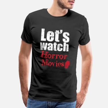 Candy Corn Let's Watch Horror Movies Funny Halloween - Men's Premium T-Shirt