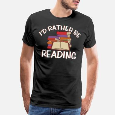 Newspaper Reading library book books gift bookworm - Men's Premium T-Shirt