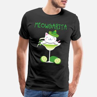 Furry Cat Meowgarita Cocktail Drink Cat Kittens Owners - Men's Premium T-Shirt