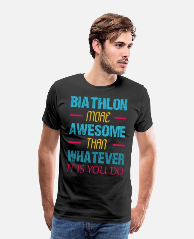 Target T-Shirts - biathlon Ski Rifle Gift Sport Winter Sports Team - Men's Premium T-Shirt black