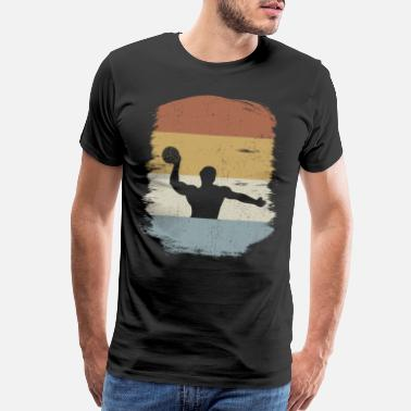 70s Sport Water Polo Player Sports Retro Style Vintage Gift - Men's Premium T-Shirt