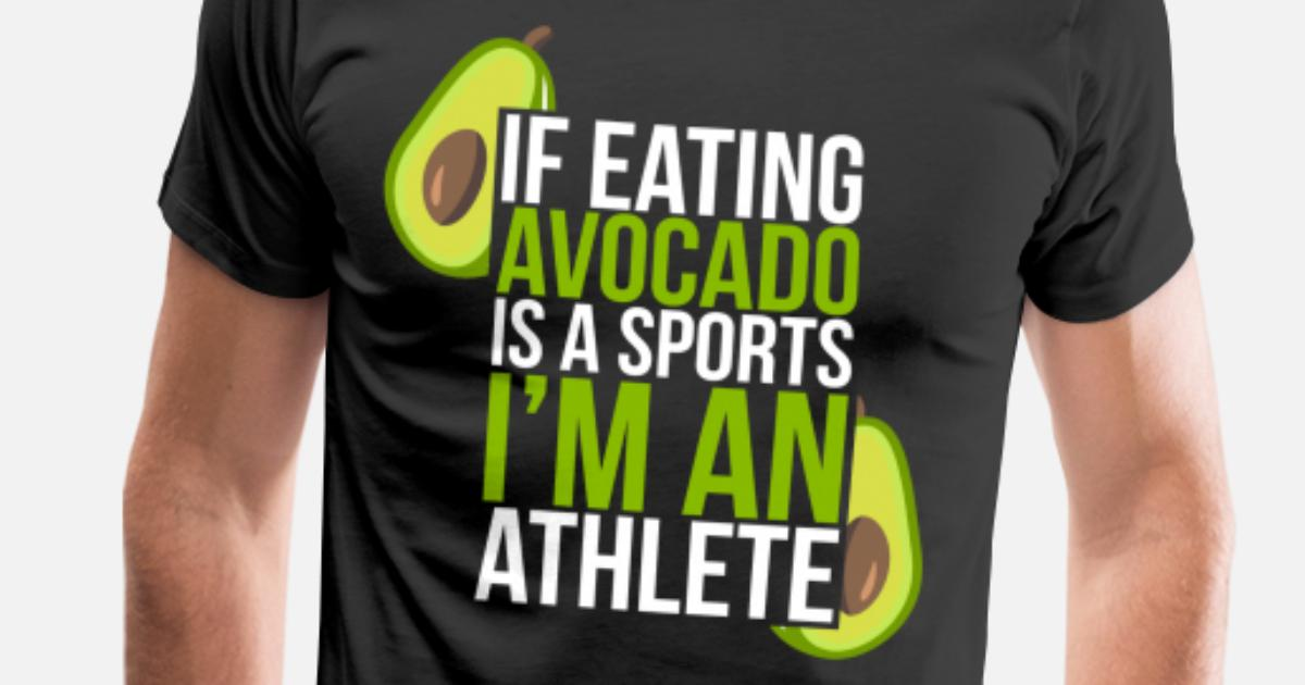 977d261e12de Men's Premium T-ShirtFunny Avocado Vegetables Veggie Gym Athlete Gift