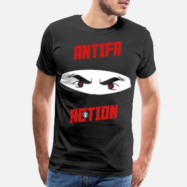 Racist Antifa Action – Ninja - Men's Premium T-Shirt