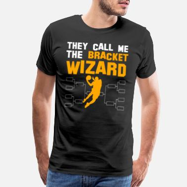 Mad Basketball Bracket Wizard Gift I Hoops Madness - Men's Premium T-Shirt