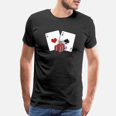 Dealer Poker Shape - Men's Premium T-Shirt