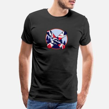 Diamond Snowboarding Shape - Men's Premium T-Shirt