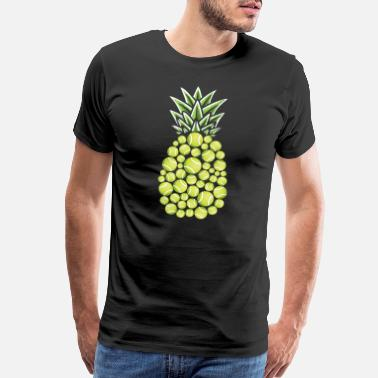 Juice Pineapple Aloha Beaches Hawaii Tennis Player - Men's Premium T-Shirt