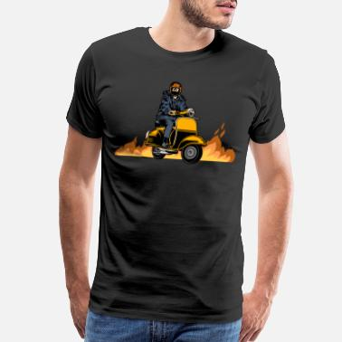 Moped Scooter Bike Scoot Moped - Men's Premium T-Shirt