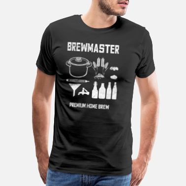 With Barley Brewer Home Brewing Beer Brewery Brewmaster Gift - Men's Premium T-Shirt