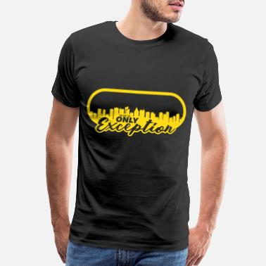 Against You Skyline The Only Excluded Yellow Cool Gift - Men's Premium T-Shirt
