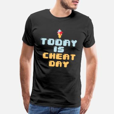 Instructor Cheat Day Right Now Exercise Gym Funny Gift - Men's Premium T-Shirt