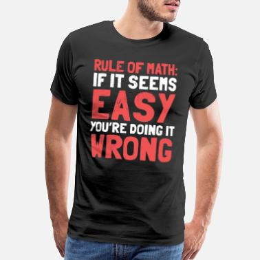 Pi Day Math Student Teacher Rule Humor Funny Gift - Men's Premium T-Shirt