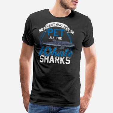 Whale Whale Shark Animal Shark Fin Sea Fish Animals Gift - Men's Premium T-Shirt