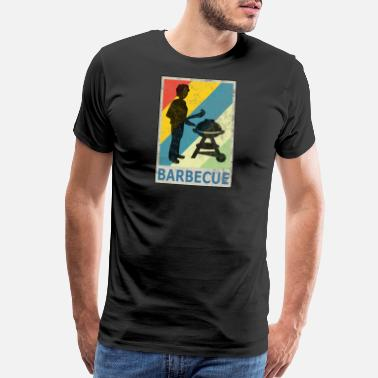Barbecue Retro Vintage Style BBQ Barbecue Summer - Men's Premium T-Shirt